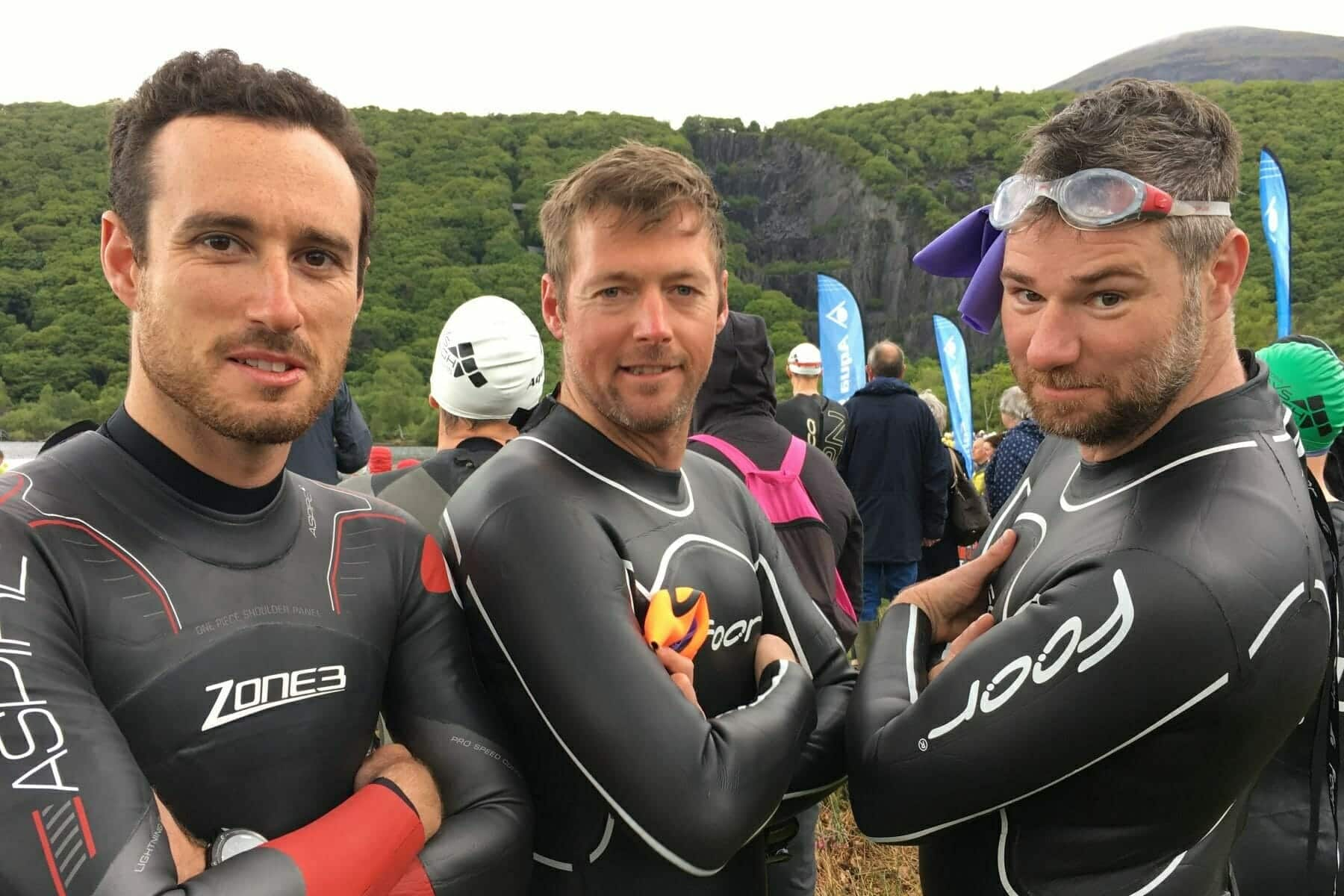 <p>In May 2017, <strong>Grant, Greg</strong> and <strong>Dickie</strong> took on the Slateman Triathlon in Snowdonia National Park. This gruelling half iron distance was a first for them all, consisting of a 1km open water swim, 51km road cycle and 11km trial run, certainly not a challenge for the fainthearted!   Hours and hours were dedicated to training, but the guys never gave up.  The event itself was tough, but they did it,  finishing with tired smiles on their faces raising over £2700.</p>